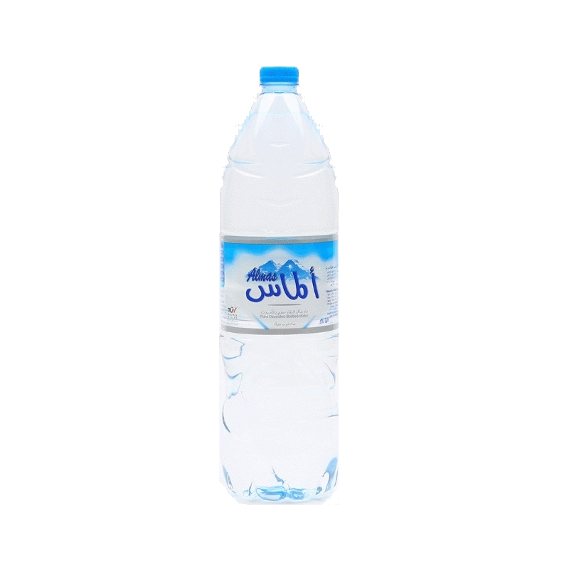 الماس مياه معبأة 1.5 لتر